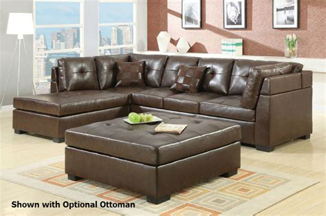 Darie Leather Sectional Sofa Darie Brown Leather Sectional Sofa A Sofa Furniture Outlet Los Angeles Ca