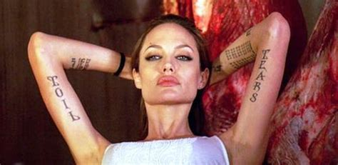 angelina jolie tattoo right arm inner arm tattoos for women