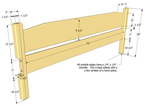 easy  build king size bed plan