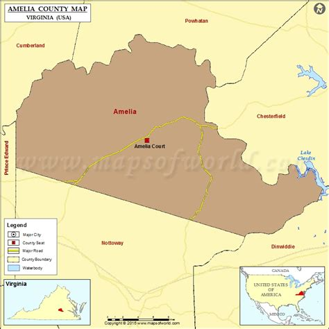 virginia usa map amelia county map virginia