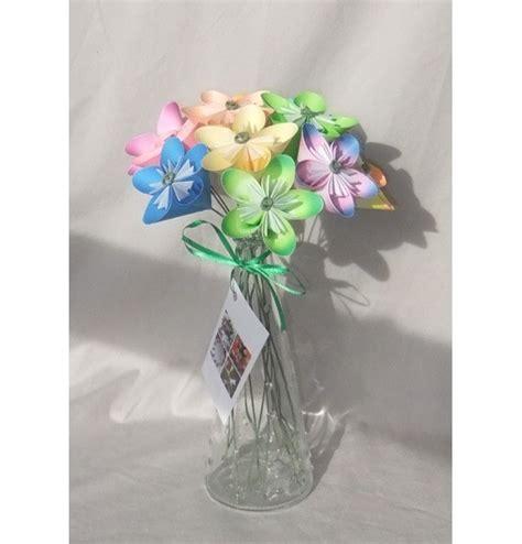 Origami Flower Arrangement - pastel origami flower bouquet aftcra