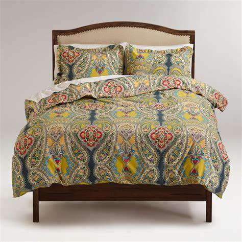world market bedding venetian duvet and pillow shams set world market