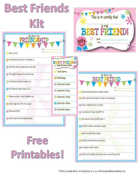 Friendship Worksheets by Friendship Worksheets Bff Printables Munchkins