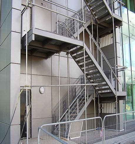 How To Build A Handrail For Outdoor Steps Fire Escape Staircases
