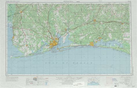 pensacola map pensacola topographic maps fl al usgs topo 30086a1 at 1 250 000 scale