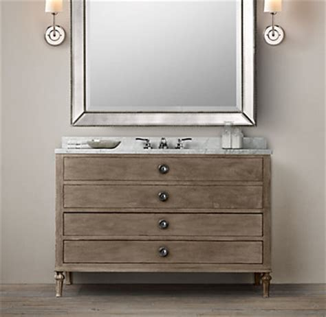 Restoration Hardware Maison Vanity by Maison Wide Single Vanity Sink
