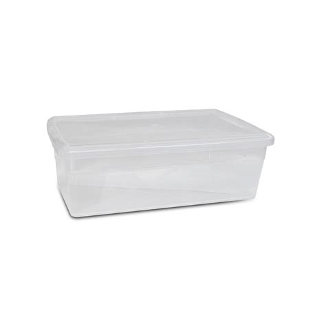 under bed box hdx 40 qt premium under bed box in clear 4 pack