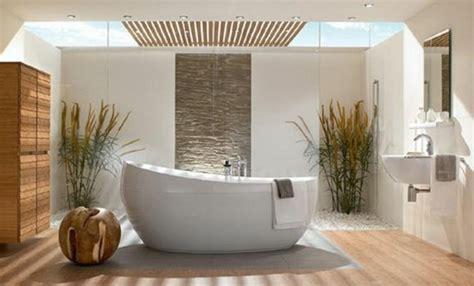 Beau Tapis Salle De Bain Ikea #3: idee-salle-de-bain-zen-salle-de-bain-bambou-pas-cher-baignoire-blanche-salle-de-bain.jpg