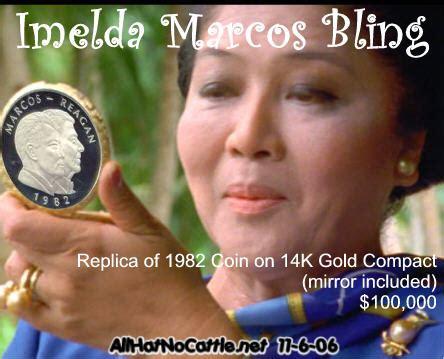 Imelda Marcos To Launch Bling Bling Accessories Line by All The President S All Hat No Cattle