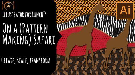 javascript pattern safari illustrator for lunch on a pattern making safari