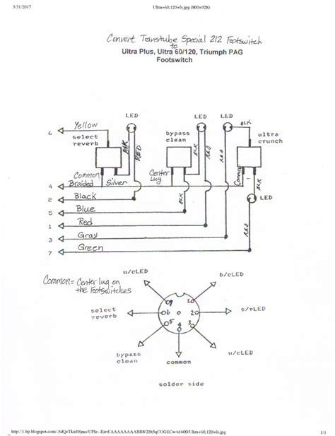 peavey footswitch wiring diagram peavey speaker wiring