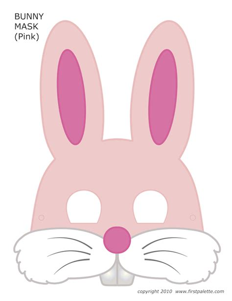 printable hare mask free printable halloween masks for kids homemade