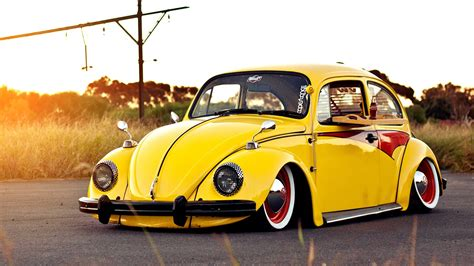 old volkswagen yellow vintage cars wallpapers best wallpapers