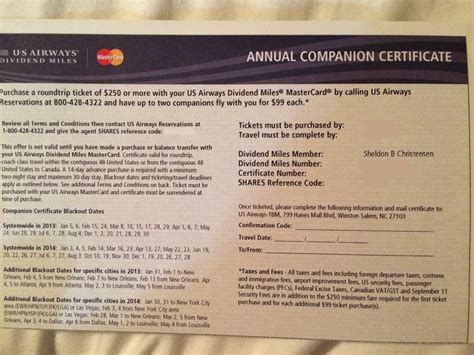 companion certification how to book your us airways companion certificate worldwanderlusting