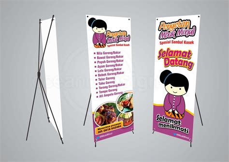 design banner murah x banner mbak minul jasa desain grafis jogja