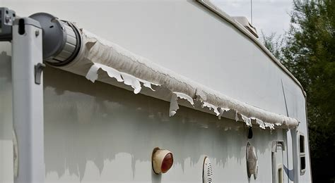 Rv Awning Replacement by Damaged Rv Awning Fabric Awningpro Tech