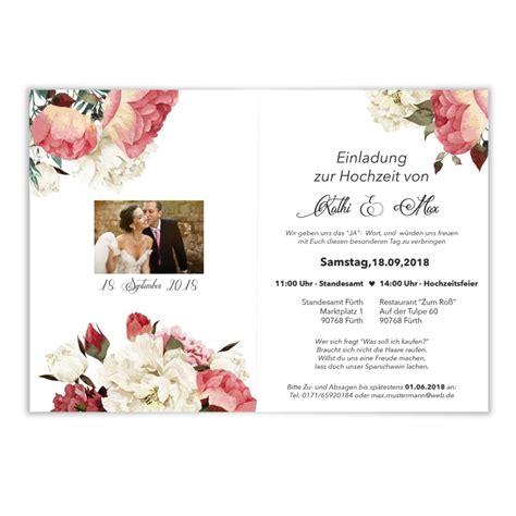 Hochzeitseinladungen Mit Aquarell Blumenmotiv Bestellen