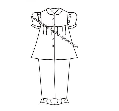 membuat pola baju model kelelawar my hobby membuat pola baju tidur anak perempuan 1