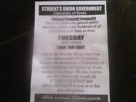 uniben is shutting edo state tommorrow picture politics nigeria