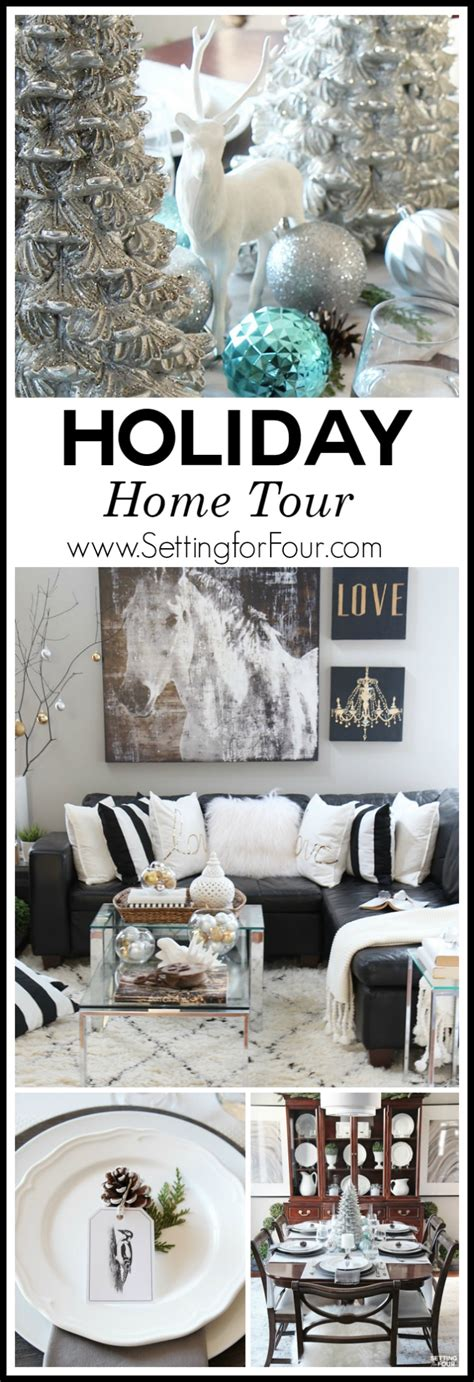 100 monochrome home decor home tour decorate with christmas home tour part two setting for four