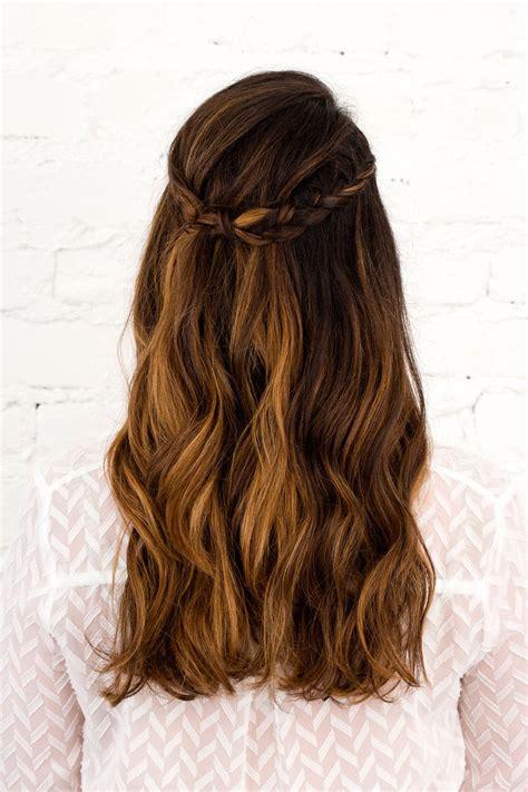 diy half up half down hairstyles pinterest 3 half up half down hairstyles you can diy all wedding