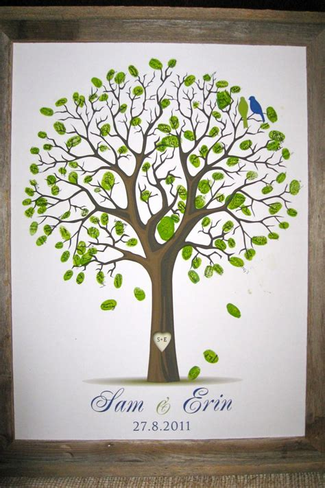 new year fingerprint tree fingerprint tree wedding must