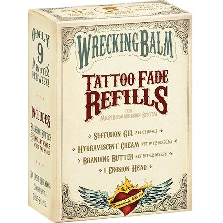 wrecking balm tattoo removal cream walmart wrecking balm fade refills 1pk walmart
