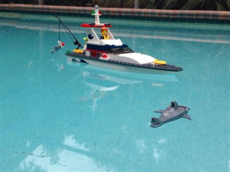 lego boat and shark gave my son a lego boat for christmas the accompanying