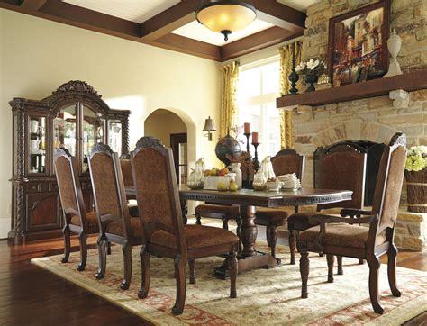 north shore double pedestal extendable dining room set  ashley coleman furniture