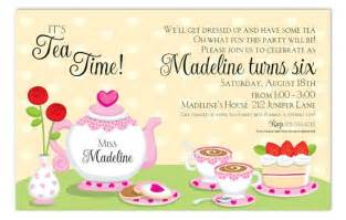 tea invitation wording theruntime