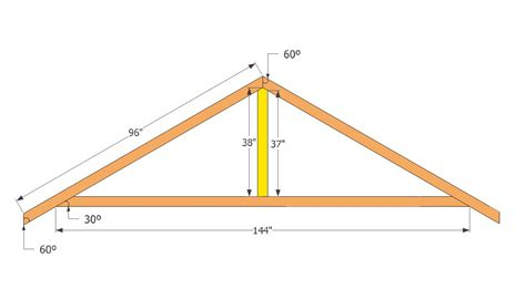 shed roof rafter design shed roof truss plans shed roof