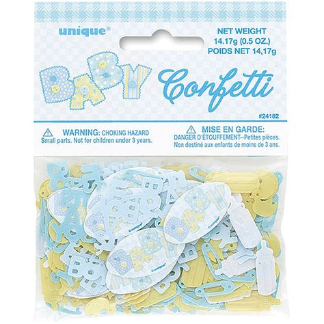 blue stitching baby shower confetti walmart