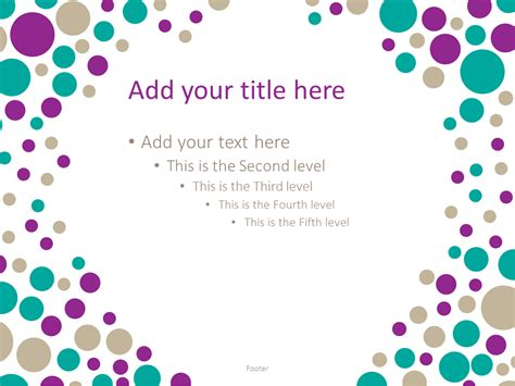 Turquoise Bubbles Powerpoint Template Presentationgo Polka Dot Powerpoint Template