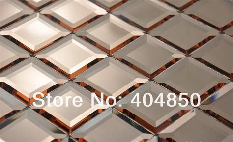 beveled edge mirror wall tiles 12x12 inch colorful faceted home decor backsplash