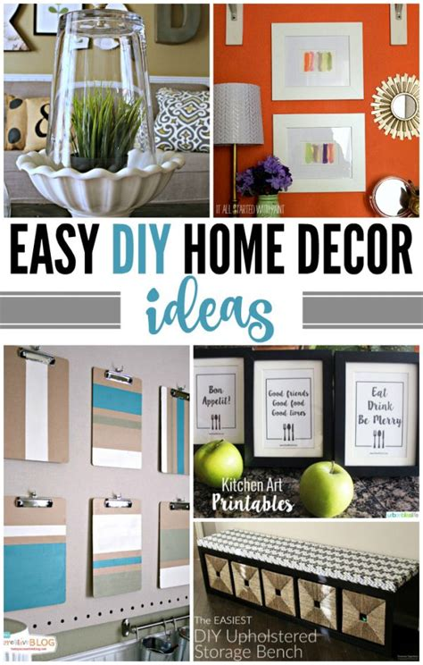 easy diy decor easy diy home decor ideas today s creative
