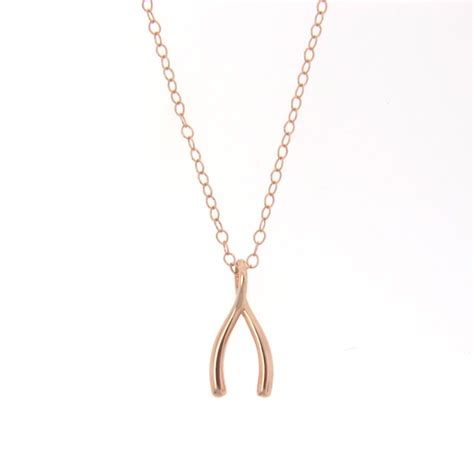 14k gold wishbone necklace as seen on