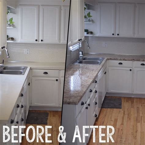 before and after updating a cheapest way to update a kitchen