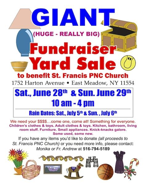 yard sale flyer template church garage sale flyer pictures to pin on