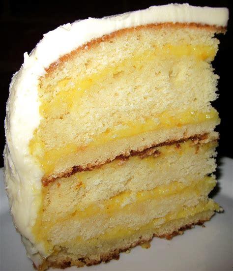 Lemon Cake by Lemon Curd Layer Cake Recipe Dishmaps