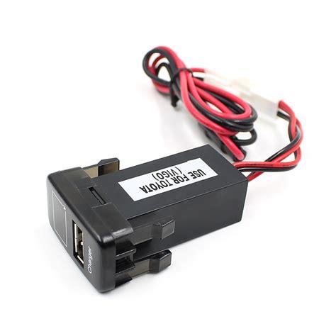 Car Charger Usb Voltmeter car charger usb voltmeter for toyota vigo black