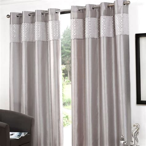 silver curtains for bedroom glitz eyelet curtains 45 quot width x 54 quot drop silver