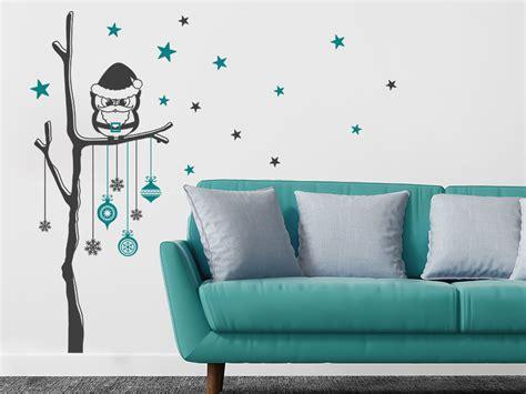Wandtattoo Kinderzimmer Mint by Wandtattoo Weihnachtlicher Baum Mit Eule Wandtattoo De
