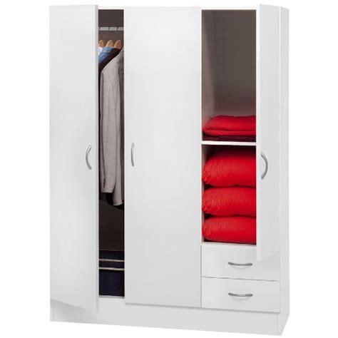 guardaroba economico armadio guardaroba mobile in kit 3 ante 2 cassetti bianco