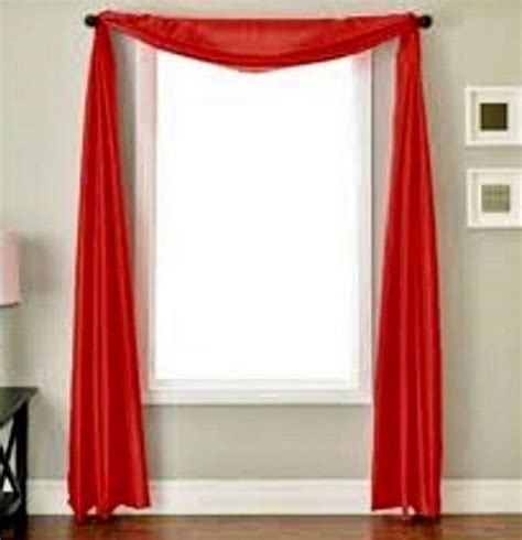 bright red sheer curtains red scarf sheer voile window treatment curtain drapes