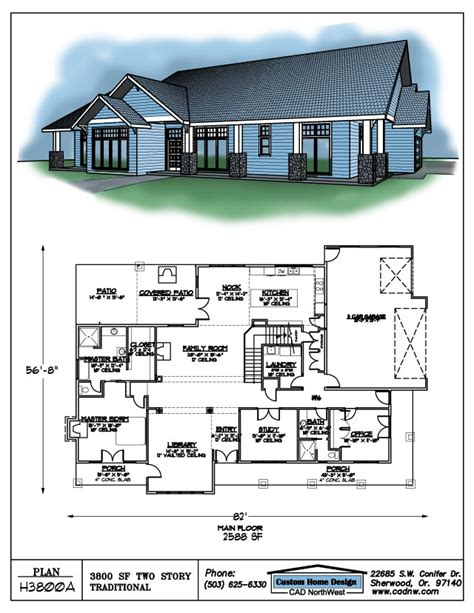 3800 Sq Ft House Plans Two Story 3800 Sf House Plan