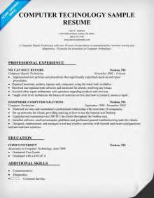 computer technology resume sle resumecompanion