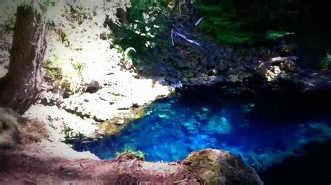 tamolich falls  blue pool oregon youtube