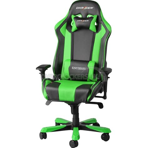 dxracer king series gaming chair black green oh kf06 ne