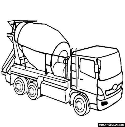 concrete coloring cement mixer coloring page free cement mixer