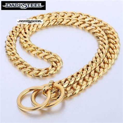 cadenas para perros mercado libre collar cadena para perro acero dorado inox 56cmspor 19mm